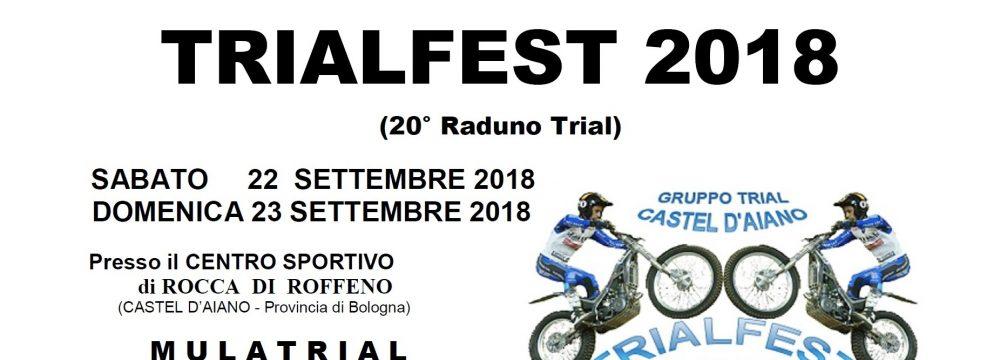 TRIALFEST CASTEL D'AIANO …. 22-23/09/2018